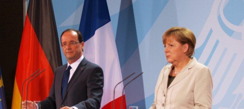 Pressekonferenz von Merkel und Hollande