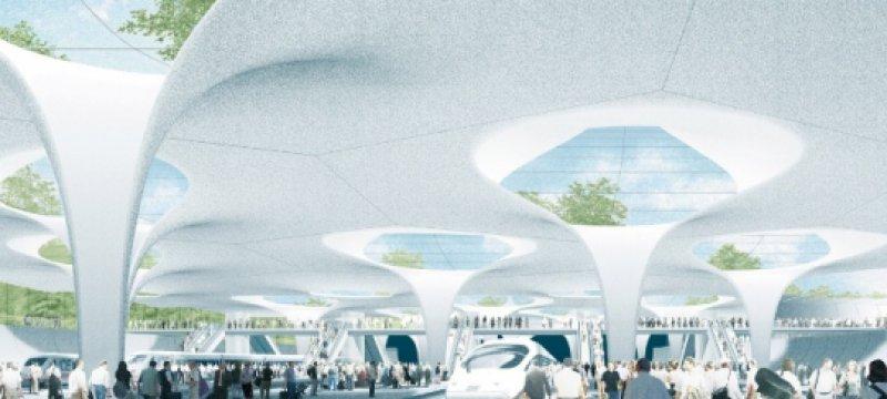 Illustration des geplanten neuen Tiefbahnhofs Stuttgart