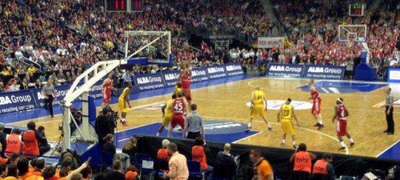 Basketball-Spiel zwischen Alba und dem FCB am 23.03.2013