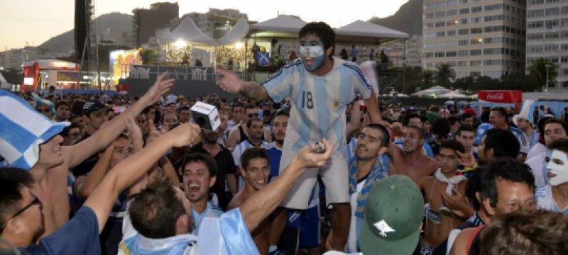 Fans aus Argentinien bei der Fußball-WM 2014