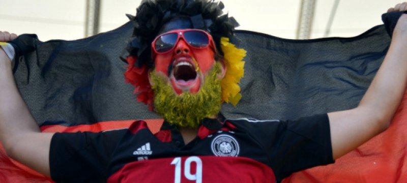 Fan im Stadion beim WM-Finale am 13.07.2014