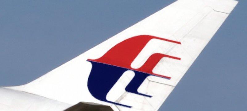 Logo der Malaysian Airlines auf einem Flugzeug