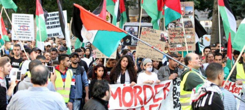 Anti-Israel-Demonstration am 23.08.2014 in Berlin
