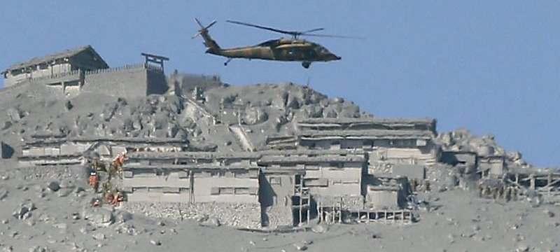 Rettungskräfte im Einsatz