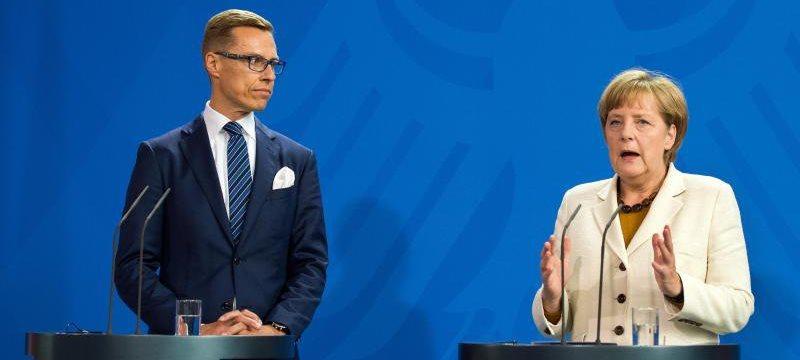 Finnlands Ministerpräsident Stubb bei Merkel