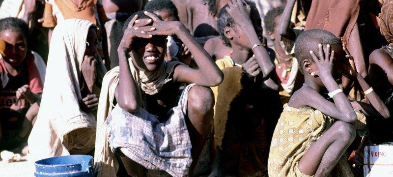 Hungernde Kinder in Somalia
