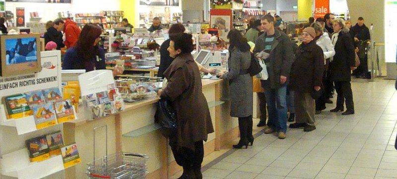Verkauf in einem Kaufhaus