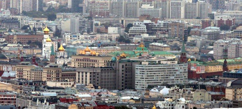 Blick über Moskau mit dem Kreml