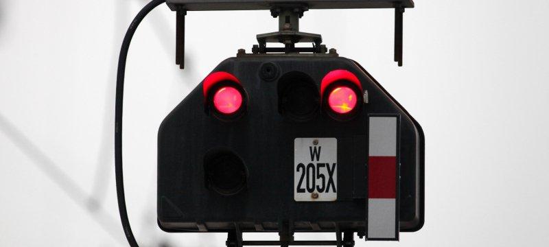 Signalleuchte bei der Bahn