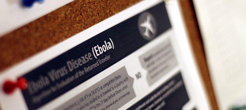 Ebola-Hinweisplakat
