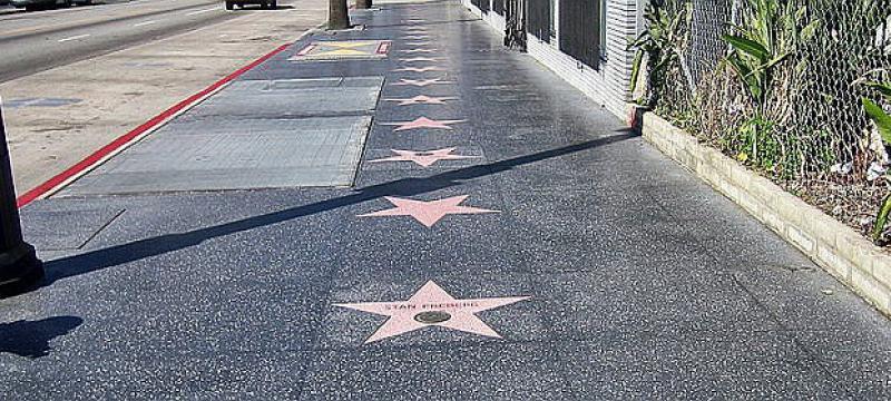 """Sterne auf dem """"Walk of Fame"""" in Hollywood"""
