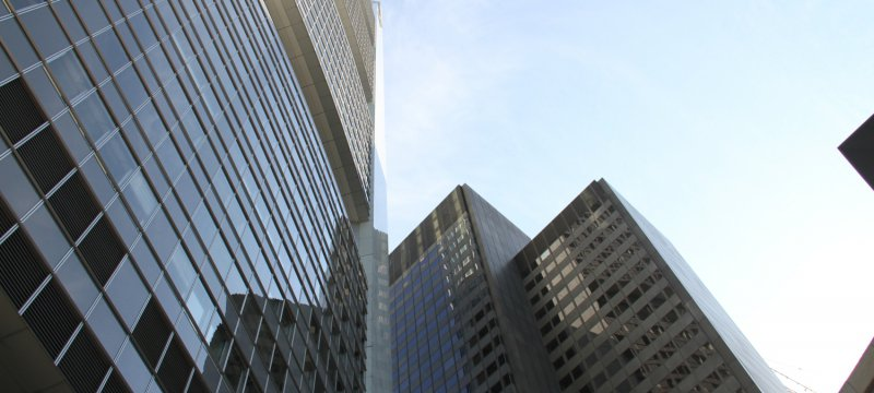 Banken-Hochhäuser