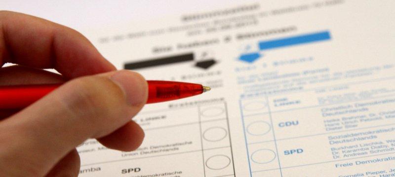Stimmzettel für die Bundestagswahl am 22.09.2013