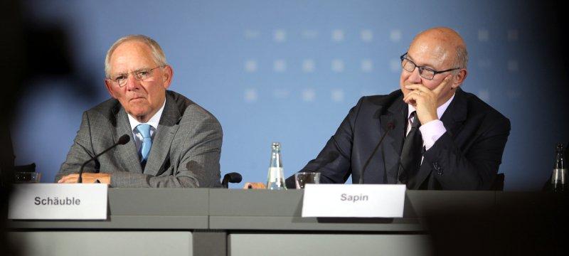 Wolfgang Schäuble und Michel Sapin am 20.10.2014