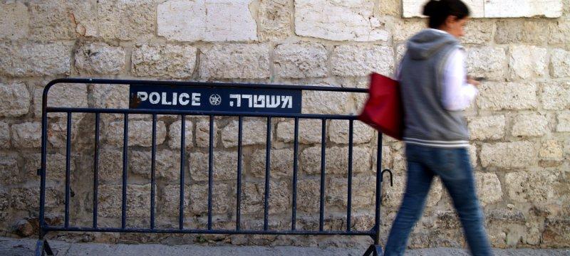 Polizeiabsperrung in Israel