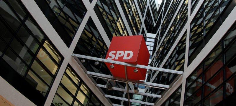 SPD-Logo im Willy-Brandt-Haus