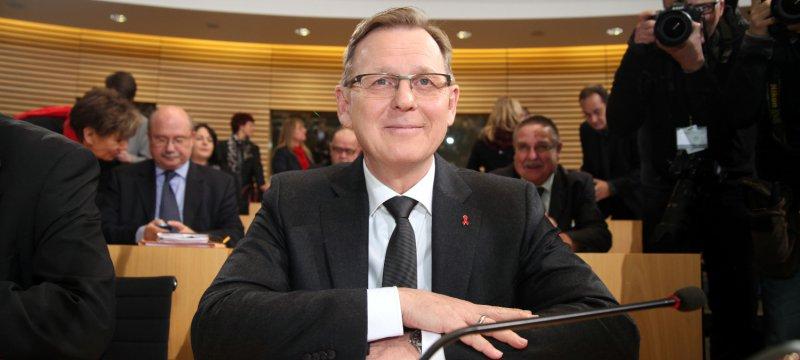 Bodo Ramelow am 05.12.2014 im Erfurter Landtag