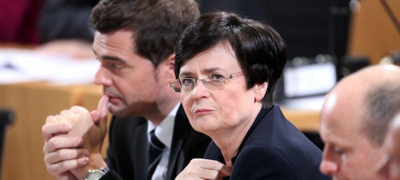 Mike Mohring und Christine Lieberknecht am 05.12.2014 im Erfurter Landtag