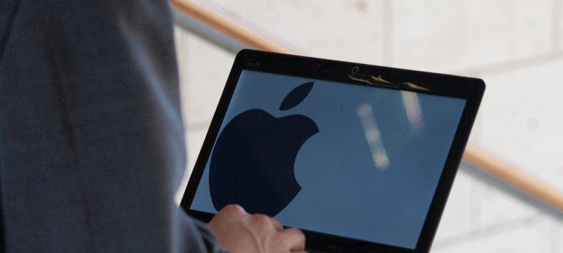 Apple-Logo auf einem Computer