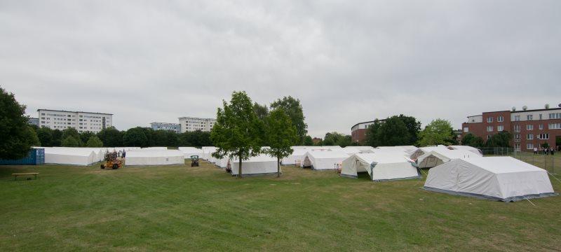 Flüchtlings Erstaufnahmelager Jenfelder Moorpark