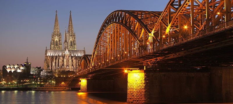 Hohenzollernbrücke Dom Köln