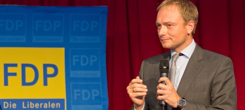 Christian Lindner FDP-Wahlkampfkundgebung