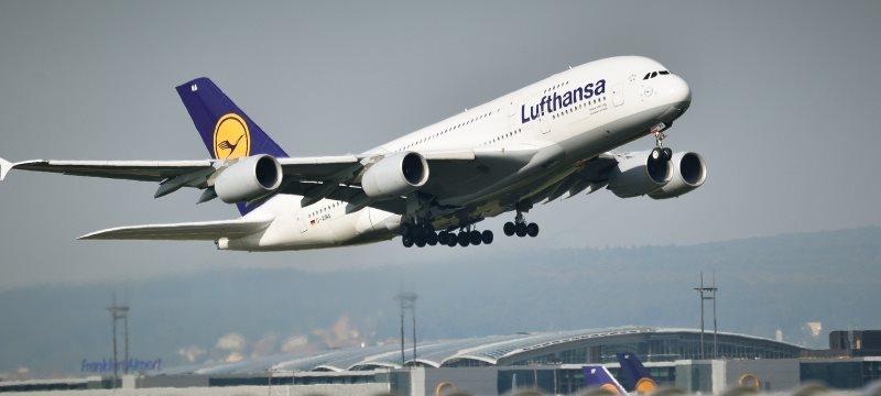 Flugzeug Airbus A 380 Lufthansa