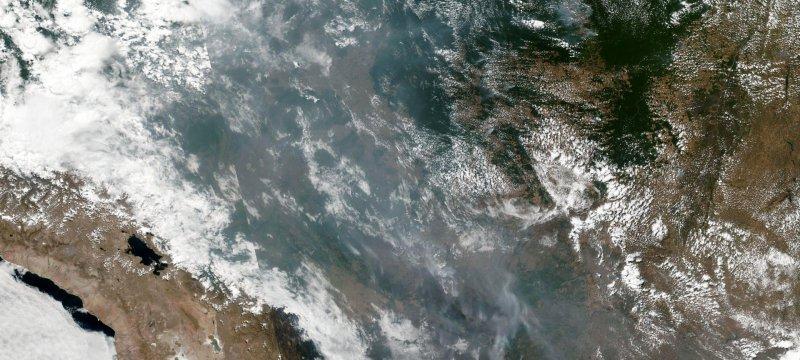 Satellitenbild von Waldbränden in Brasilien