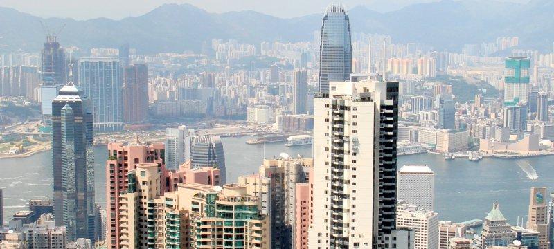 Blick über Hongkong