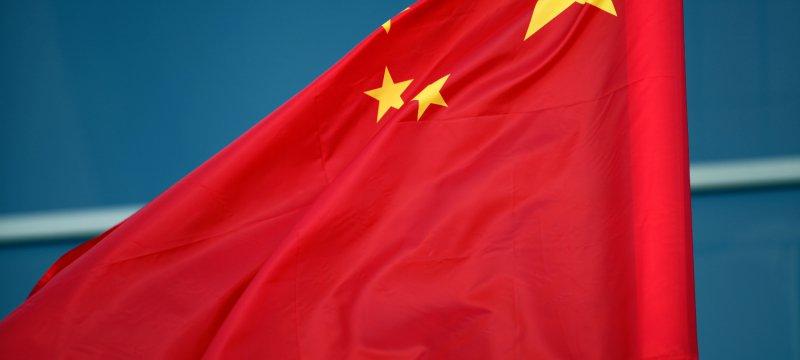 Fahne von China