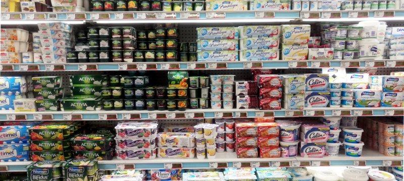 Joghurt im Supermarkt