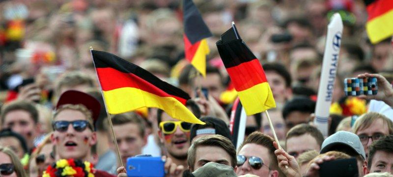 Fußballfans der Deutschen Fußball-Nationalmannschaft