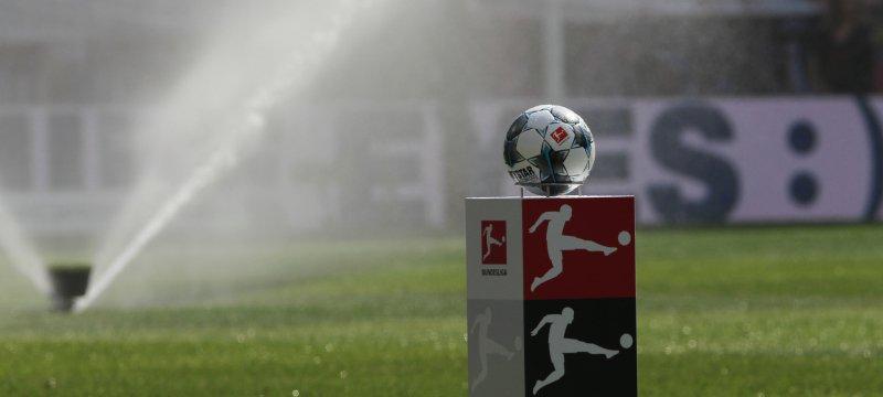 Bundesliga-Fußball vor dem Anstoß
