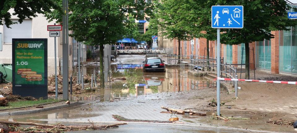 Rathausstraße Hagen Hochwasser